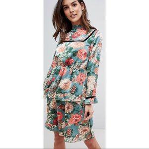 Vila floral midi dress